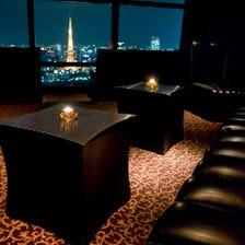 夜景を独占できる寛ぎのソファー個室