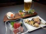 お酒にぴったりの『酒肴セット』1,580円(税込)