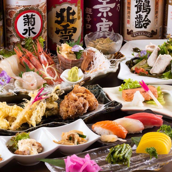 新潟の美味を味わう宴会コースは飲み放題付4,000円~ご用意
