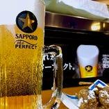 当店はパーフェクトな生ビールをご提供します