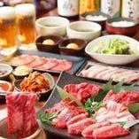 【宴会コース】 当店のお肉が時間制限なしでお楽しみ頂けます。