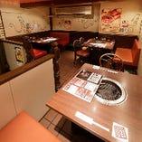 【宴会個室】 まったり焼肉を楽しむテーブル席半個室をご用意!