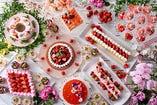 【3-4月 土-祝ランチ】春のグローバルビュッフェ ストロベリー&桜スイーツフェア ドリンクバー付