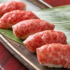 【人気筆頭の看板メニュー】A4和牛の炙り肉寿司