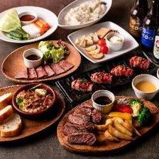 見た目も優美な肉料理の数々