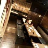 心を落ち着かせる店内空間は会社宴会・飲み会などに人気。