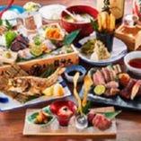 土佐名物を堪能する宴会コースは全8品3500円からご用意。