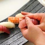 【職人寿司】 その日入荷のネタを握り寿司でご堪能
