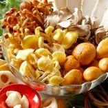 体に優しい野菜と茸の食材