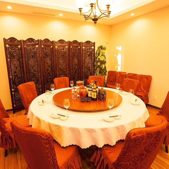 円卓個室を完備しております。御宴会や接待に最適です。