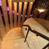 【secret space】   らせん階段を下りるとそこには幻想的な空間が!!