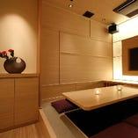 【SV-34】5名~6名様  日本の情緒を感じ取れる、茶室をイメージした堀ごたつ式の空間!