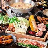 地どり鍋コース(水炊き)