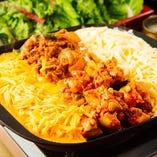 チーズタッカルビ&豚肉炒め&チェダーチーズ
