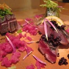 本日の鮮魚・お造り三種盛合わせ