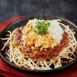 旨味たっぷりラム肉100%ハンバーグは平日ランチ限定!