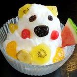 【コース&単品OK】鹿児島名物!「かき氷 白熊」をサービス