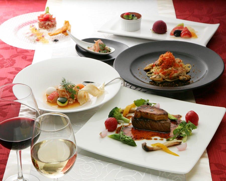 【TSUKIコース】前菜・パスタ・魚料理・肉料理・ドルチェの全5品ディナー