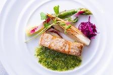 【HIDAMARIコース】前菜・パスタ・魚料理・肉料理・ドルチェの5品フルコースランチ!