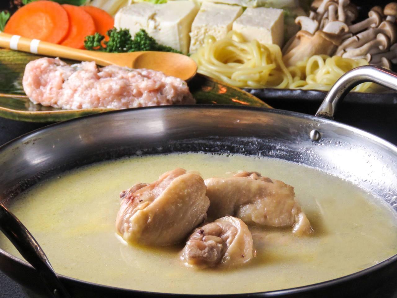 濃厚スープの博多水炊き 【鍋コース】4500円※120分飲み放題付