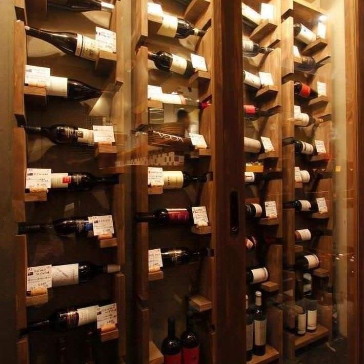 60種類以上のインポートワイン♪