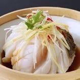 白身魚のネギ生姜蒸し