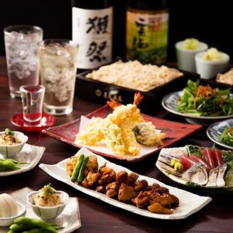【Go To Eatキャンペーン対象】蕎麦屋ならではのラインナップ~五反宴会コース~