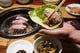 ナムルキムチセットにお肉をはさんでこれがGOOD!