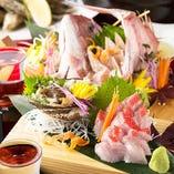 旬の鮮魚や厳選した地鶏を使用した逸品の数々をご提供