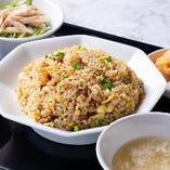 【夜定食】坦々麺定食・五目チャーハン定食・五目あんかけ焼きそば定食