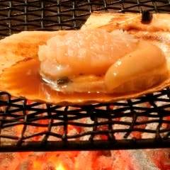 殻付き帆立貝焼き