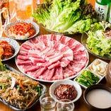 [サムギョプサル食べ放題] 一品料理&飲み放題も付いて3,500円~