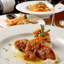 宴会の下見やカジュアルなお食事会にも◎冷菜・パスタ・お肉料理の『リーズナブル新プラン』全5品
