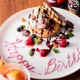 お誕生日や大切な記念日に♪デザートプレートのご用意可能です
