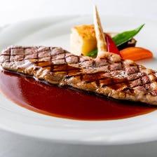 【パワーランチコース】サーロインステーキ、厳選素材のオードブルと魚料理でお昼からプチ贅沢な時間
