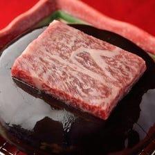 国産黒毛和牛の石焼きステーキ