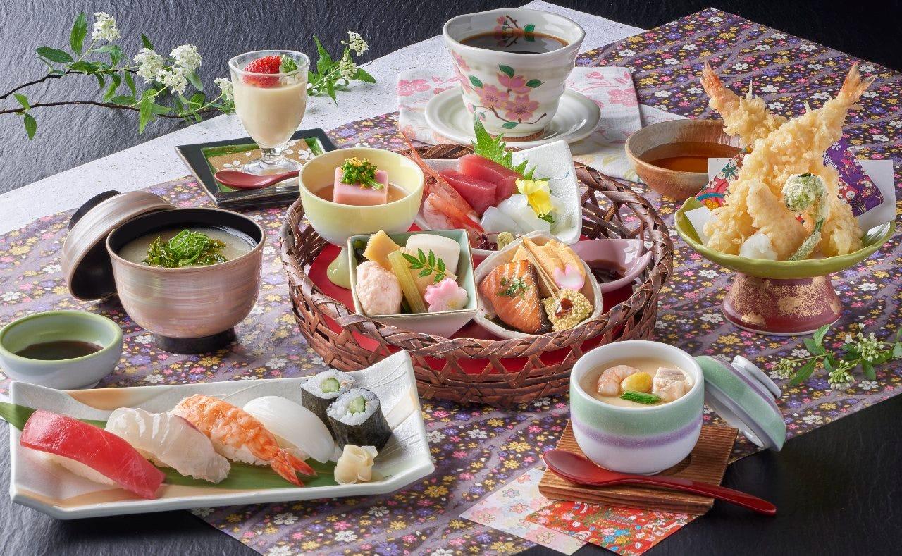 色鮮やかな見た目も楽しめる旬の会席料理は2,500円(税抜)より
