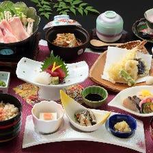 【2時間飲み放題付】旬の食材をふんだんに使用『5,500円コース』│宴会・接待