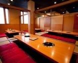 全席128席、最大宴会スペースは60名様までお座り頂けます。