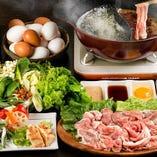 高級黒豚が食べ放題+選べる前菜3種が楽しめる「しゃぶしゃぶCコース」