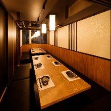 プライベート個室でゆったりとお食事