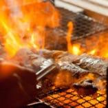 【炭火焼き】 炭火焼き料理は旨いがあたりまえ