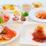 C おひとり様コース 魚かまたは肉料理のメインを お選びいただける ぜいたくなコース(全6品)