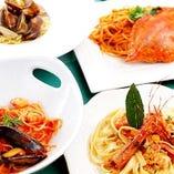 パスタ料理 海の幸のミートソース ¥1850  アマトリチャーナ   ¥1550 etc...(パスタメニューはメニューぺージを見てね)
