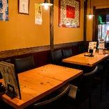【ゆったりテーブル席】個人のご利用から、小~中規模宴会に!
