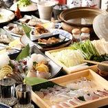 <コース3,500円~> 漁師鍋や鮮魚とわかめのしゃぶしゃぶプラン