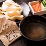 うどんつゆ・中華スープもご用意しております