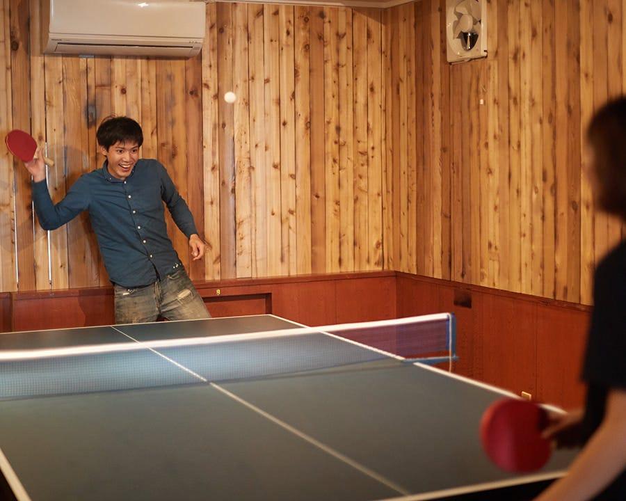 【沖縄初】店内で卓球が楽しめる♪