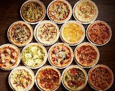 豊富な種類のピザは15種類!!