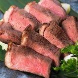 新名物!牛イチボ肉のロゼステーキ!数量限定!売り切れごめん!